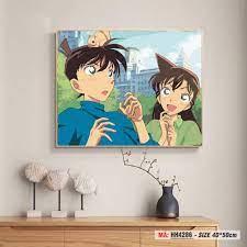 Tranh trang trí tự tô màu theo số Conan Shinichi và Ran Mori HH4286