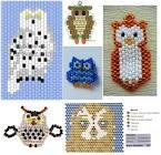 Схемы плетения плоских животных
