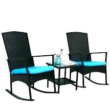 outdoor porch rocker cushions rocking chair pads indoor wicker rattan garden lounge w blue cushion i