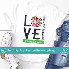 Teacher Shirt For Women Personalized Teacher Shirts Love Teacher Shirt Matching Teacher Shirts Teaching Shirts Custom Teacher Shirt