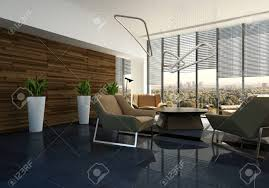 lounge lighting. Elegant Designer Living Room Interior With Contemporary Lighting And Chrome Lounge Suite, Wood Feature Wall N