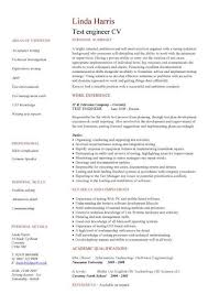 engineering resume templates. Test Engineer CV Sample Grammar Spelling In A CV Focused Resume