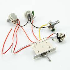 guitar wiring harness pickup 1v2t 5 way switch 500k pots jack for guitar wiring harness pickup 1v2t 5 way switch 500k pots jack for fender strat