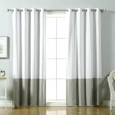 color block cotton blend striped blackout thermal grommet curtain panels curtainworks kendall panel 108 inch ivory