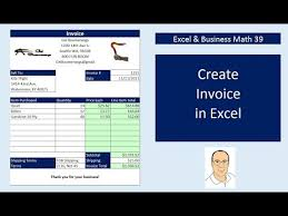Create A Business Invoice Excel Business Math 39 Create Excel Invoices Data Validation