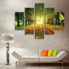 5 piece canvas art trees and roads armies canvas painting decorations for home oil painting for living room c 460 in painting calligraphy from home  on 5 piece canvas wall art trees with 5 piece canvas art trees and roads armies canvas painting