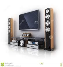 sound system for tv. royalty-free illustration. download modern tv and sound system for tv