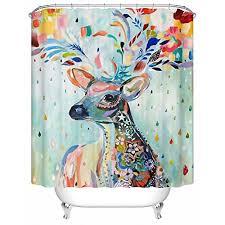 cool shower curtains. cool shower curtains multi colored deer animal waterproof polyester curtain