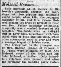 Molseed Lila, Everett Benson 1919 - Newspapers.com
