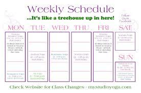 Schedule To Print My Studio Schedule