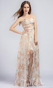 long floral printed sweetheart chiffon bridesmaid dresses with