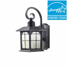 home decorators collection aged iron motion sensing outdoor led wall lantern