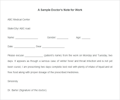 Fake Doctors Note Free No Download Format Of School Absence Letter Doctors Note Excuse From Work For