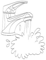Water Faucet Coloring Pages Print Coloring