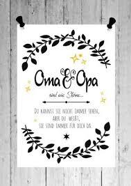 Druck Fine Art Bild Poster Oma Opa Sind Sterne Print Shabby Din A4
