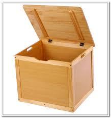 wooden storage bins with lids home design ideas in 13