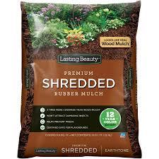 rubber mulch review. Perfect Mulch Lasting Beauty Premium Shredded Rubber Mulch Earthtone In Mulch Review