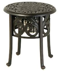 outdoor furniture side table cau by luxury cast aluminum patio furniture round ice bucket side table outdoor furniture side table