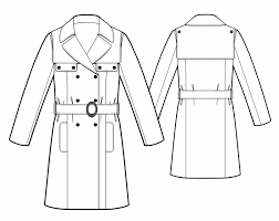 Trench Coat Pattern Adorable Trench Coat Sewing Pattern 48 Madetomeasure Sewing Pattern