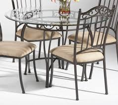 outdoor wonderful round glass table set 17 chair dazzling dining with 4 chairs for top in