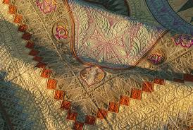 Hoopsisters' Jacobean Journey BOM   Quilted Threads & Jacobean Close Up Adamdwight.com