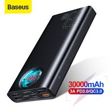 <b>Baseus 30000mah power</b> bank 5 outputs and 3 inputs 18w usb-c ...