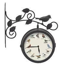 decorative outdoor singing bird clock thermometer singing bird sound clocks at bird garden