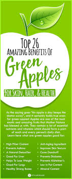 Green Apple Nutrition Chart Top 26 Amazing Benefits Of Green Apples For Skin Hair And