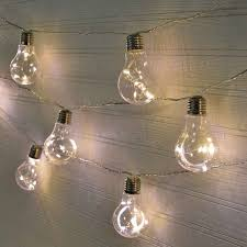 edison light bulb led party string lights plastic 20 lights