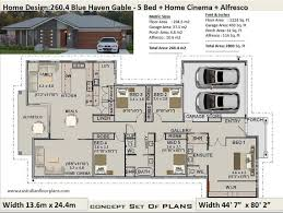 5 bedroom house plans 260 4 m2 or 2800