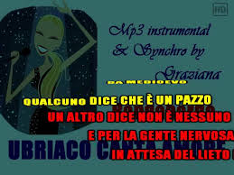 Graziana Karaoke International - over 4000 video karaoke HD live instrum - UBRIACO  CANTA AMORE Bandabardò karaoke Playback instrumental edit by ©Graziana