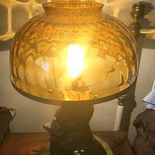 2441 s amber glass dome shade 14