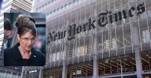 Image result for sarah palin defamation new york times