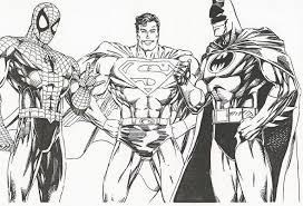 Small Picture Printable Coloring Pages Justice League Coloring Pages