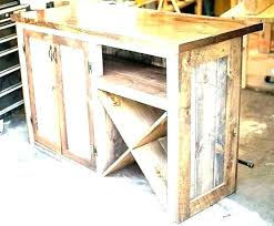 miller rustic cherry corner bar cabinet with reclaimed corrugated metal mini small wood iron bars 5