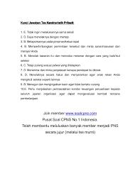 Berikut ini 15 aspek tersebut : Soal Cpns Tkp
