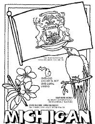 Small Picture Crayola State Coloring Pages Michigan Coloring Page In Crayola