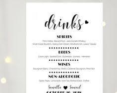 wedding drink menu. wedding drink menus Goalgoodwinmetalsco