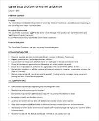 10 Event Coordinator Job Description Samples Sample Templates