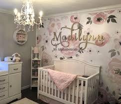 Baby Name Wall Designs Alphabeticals Nursery Name Sign Girl Boy Custom Wooden