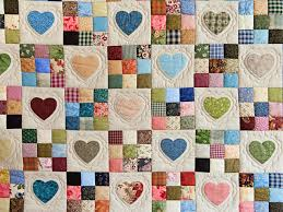 Green and Multicolor Hearts and Nine Patch Quilt Photo 3 ... & Green and Multicolor Hearts and Nine Patch Quilt Photo 3 Adamdwight.com