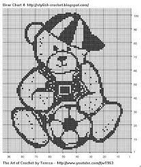 Free Filet Crochet Charts And Patterns Filet Crochet Bear