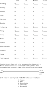 Another Word For Questionnaire Mcgill Pain Questionnaire An Overview Sciencedirect Topics