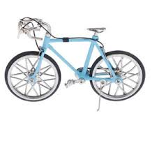 Details About 1 16 Mini Diecast Mountain City Bike Bicycle Model Hobby Collectible Blue
