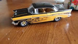 M2 Machines 1957 Chevy Bel Air Drag Car Diecast Car Review - YouTube