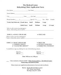 Cover Letter Forms Babysitting Cover Letter Babysitting Application