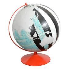 <b>Vintage</b>, <b>Hand Painted</b> Globe by Dylan Egon