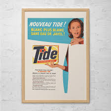 cleaning ad vintage tide ad laundry room poster ad mid century poster retro laundry room ad 1950 s advertisement laundry room wall art home decor