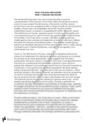 man and nature essay year hsc english advanced thinkswap man and nature essay