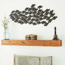 deco 79 metal fish wall decor 53 by 20